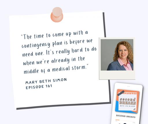 Mary Beth Simon on Second Breaks Podcast